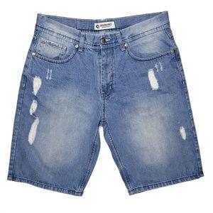 Men's Akademiks Distressed Jean Shorts Sz 34